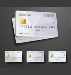 Templates for design a credit debit bank card vector