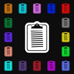 Text file icon sign Lots of colorful symbols for vector image