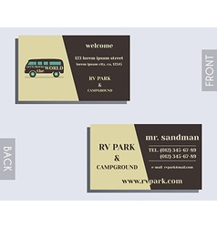 Travel and Camping visiting card design Layout vector image vector image