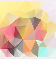 Triangles polygonal print in summer colors vector
