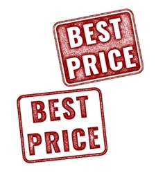 Two realistic best price stamps isolated vector