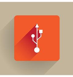 USB symbol vector image