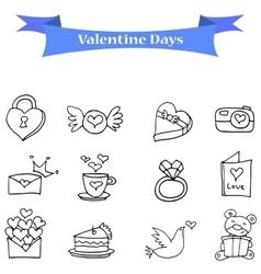Valentine day icons vector