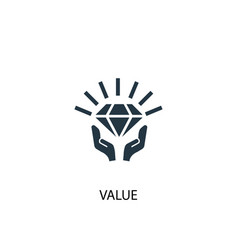Value icon simple element value vector