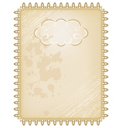 Vintage box frame vector