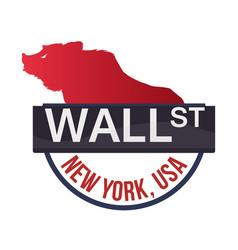 wall street new york bear vector image