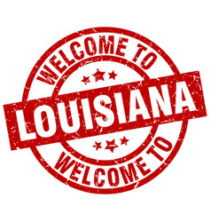 Welcome to louisiana red stamp vector