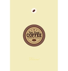 With badge and coffee bean vector