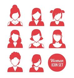 women icon vector image