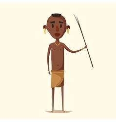 African man Indigenous south American Cartoon vector image