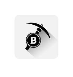 bitcoin mining icon modern web money digital vector image vector image