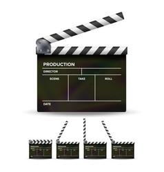 clapper board black cinema clapper vector image