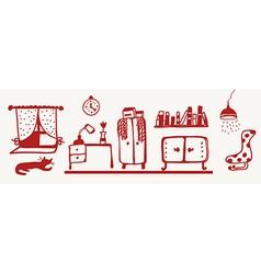 Furniture banner - room interior vector image