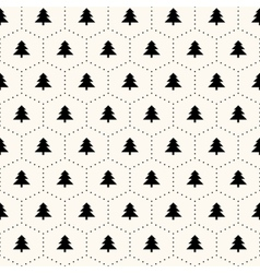 seamless retro pattern christmas trees vector image vector image