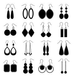 set of earrings vector image