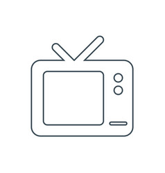tv set icon vector image