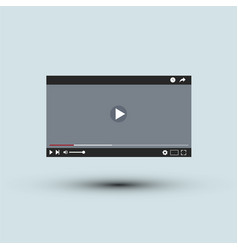 video player interface l flat design vector image vector image