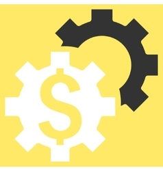 Bank Settings Flat Icon vector image