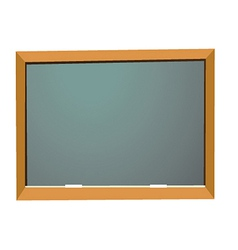 empty school blackboard vector image vector image