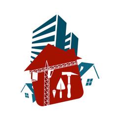 Housing construction vector