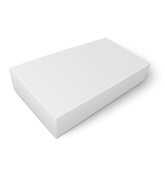 White flat paper box template vector image vector image