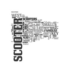 why scooters are a great alternative text word vector image vector image