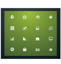 bank related pictograms vector image vector image