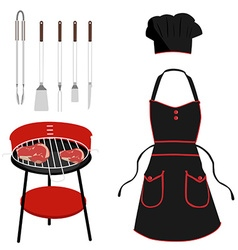 Barbeque tools vector image