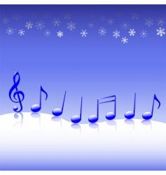 christmas carol music on snow vector image vector image