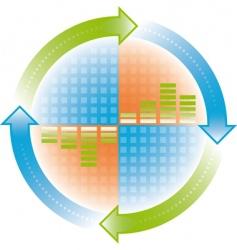 cycle arrows vector image vector image