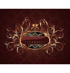gold vintage vector image vector image