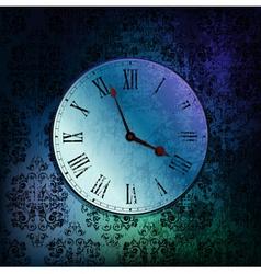 grungy clock vector image vector image
