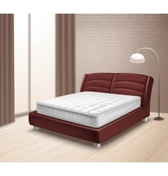 Mattress Bed In Home Interior vector image