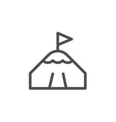 mountain peak line icon vector image