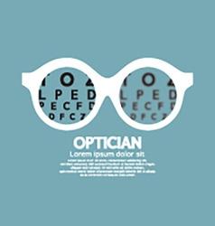 Optician Vision Of Eyesight vector image