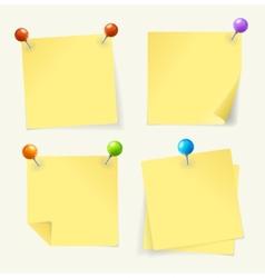 pin yellow paper vector image