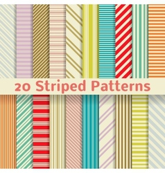 Retro striped seamless patterns tiling vector image