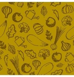 garden farm vegetables and fruit seamless vector image