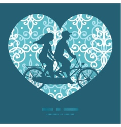 light blue swirls damask couple on tandem vector image vector image