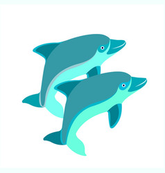 pair of dolphins vector image