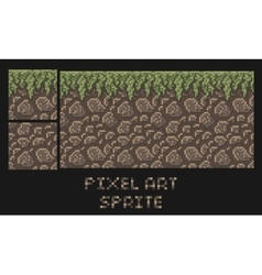pixel art texture of stone dirt land with vector image vector image