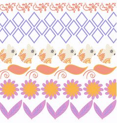 abstract bunnyes nature animals background vector image