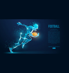 abstract football player rugby american vector image
