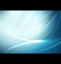 Abstract lines curve in soft blue background vector image