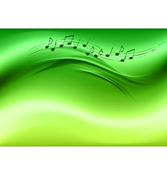 abstract music green vector image