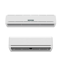 Air conditioners realistic mockup split system vector