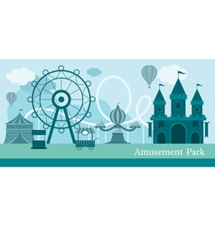 Amusement Park Mono Color vector