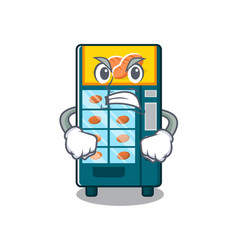 Angry bakery vending machine in a mascot vector