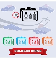 Baggage transportation airport icon Liquid in vector