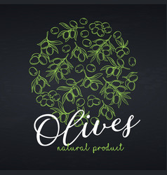 Banners template with olives vector
